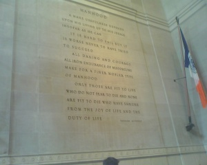 """Manhood"", Theodore Roosevelt [Museum of Natural History]"