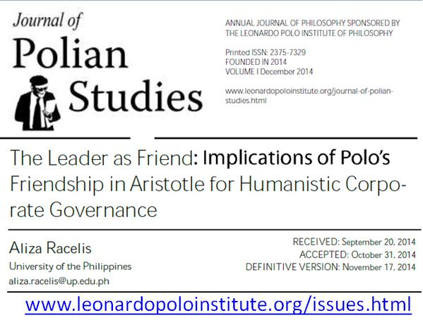 Journal of Polian Studies - The Leader as Friend - screencap